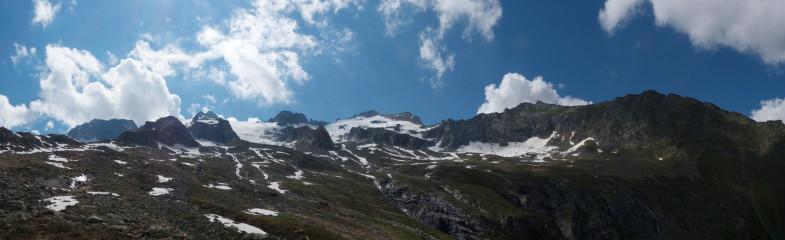 In Bildmitte der Gipfel, weitläufiges Kainznerkar..im Winter sicherlich sehr lohnend