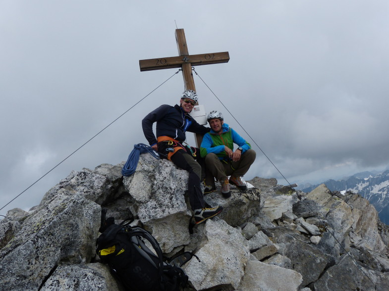Mia Zwoa am Gipfel, Ich links...eh klar ;-)