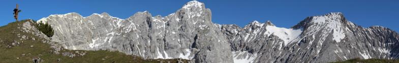 Auf da Wildangerspitze mit Halltaler Rosskopf, Großer und Kleiner Lafatscher