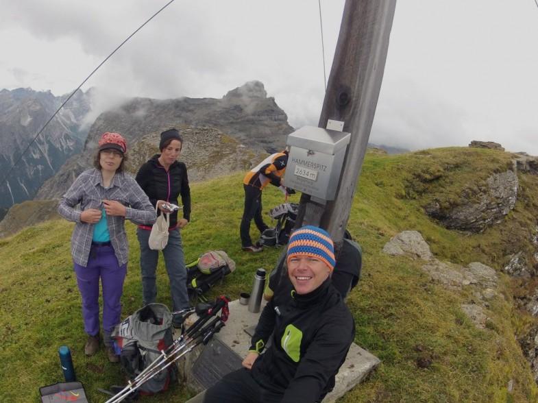 Am Gipfel der Hammerspitze