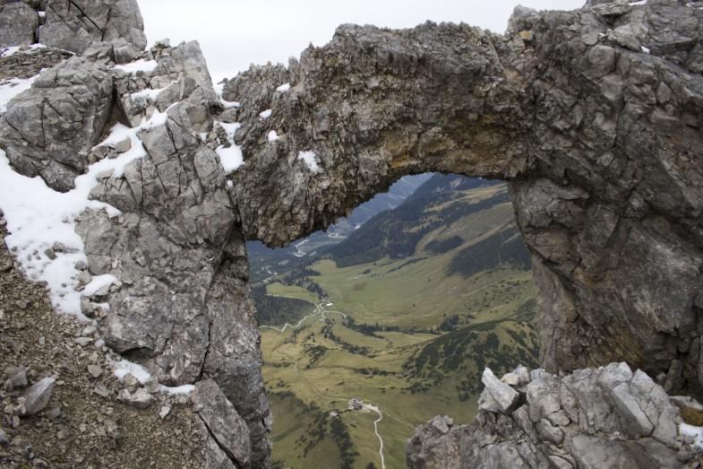 Durchblick zur Falkenhütte