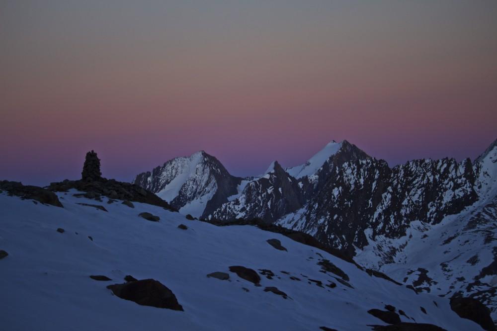 Hochfirst und Liebenerspitze bei Sonnenuntergang