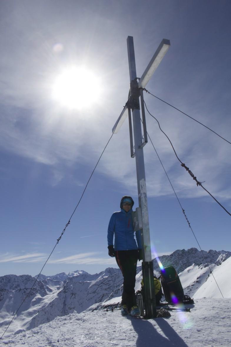 Sonja am Gipfel