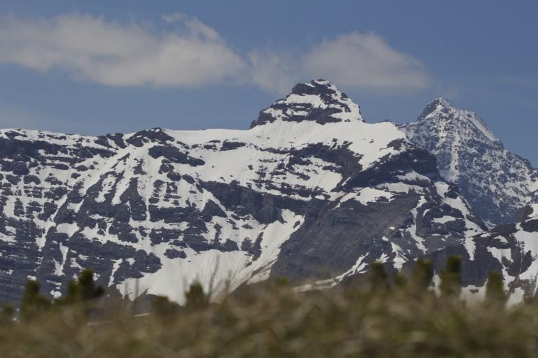 Blick zu Kirchdachspitze und Habicht