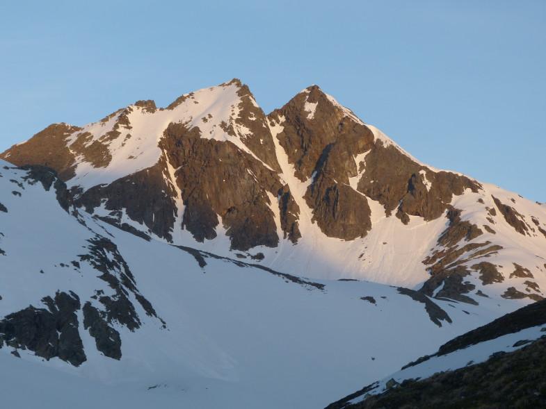 Der linke Gipfel sollte mein Tagesziel werden, Hochgrubach