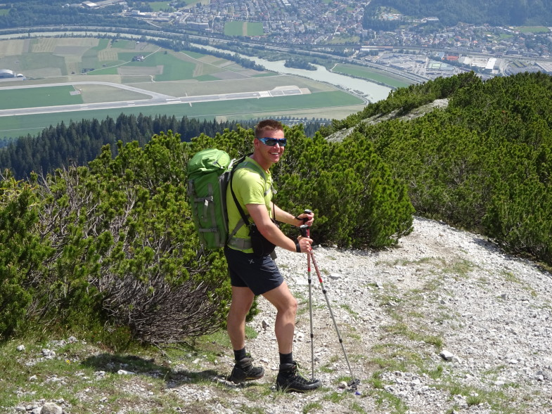 Im Abstieg kurz vor der Jagdhütte