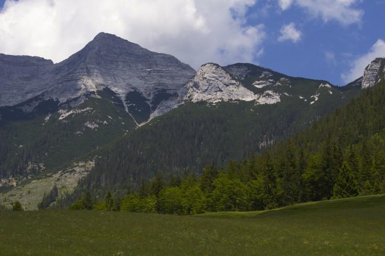 Blick retour zum Gipfel