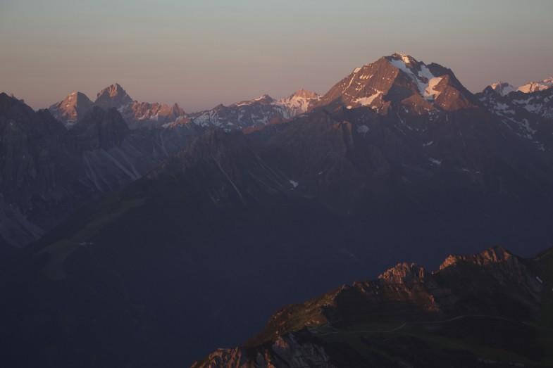 Tribulaune und Habicht, links vom Habicht die Weißwandspitze und Pflerscher Pinggl