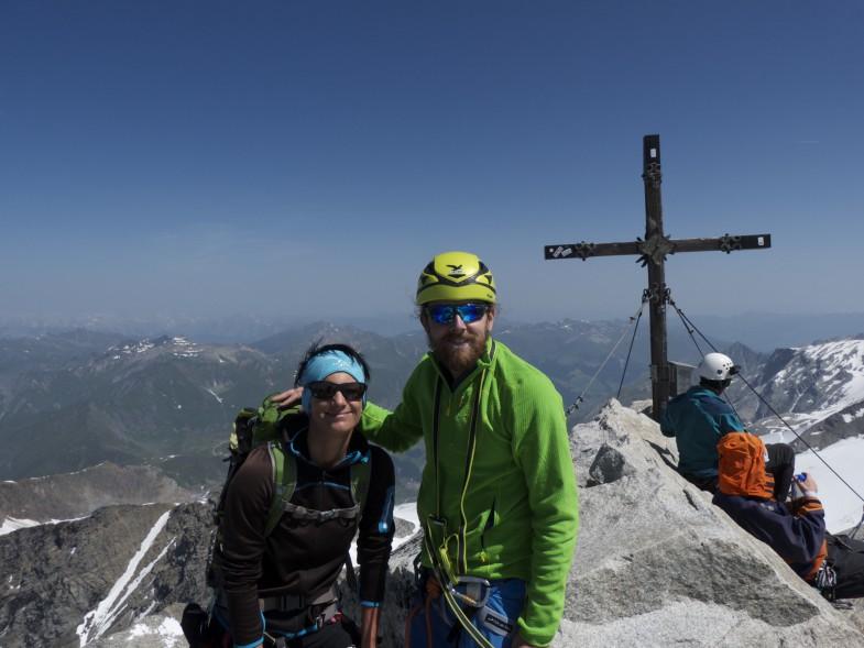 Am Olperer, Simon und Sonja..endlich wieder ein Gipfel zum Abhaken für die Zwei :-D