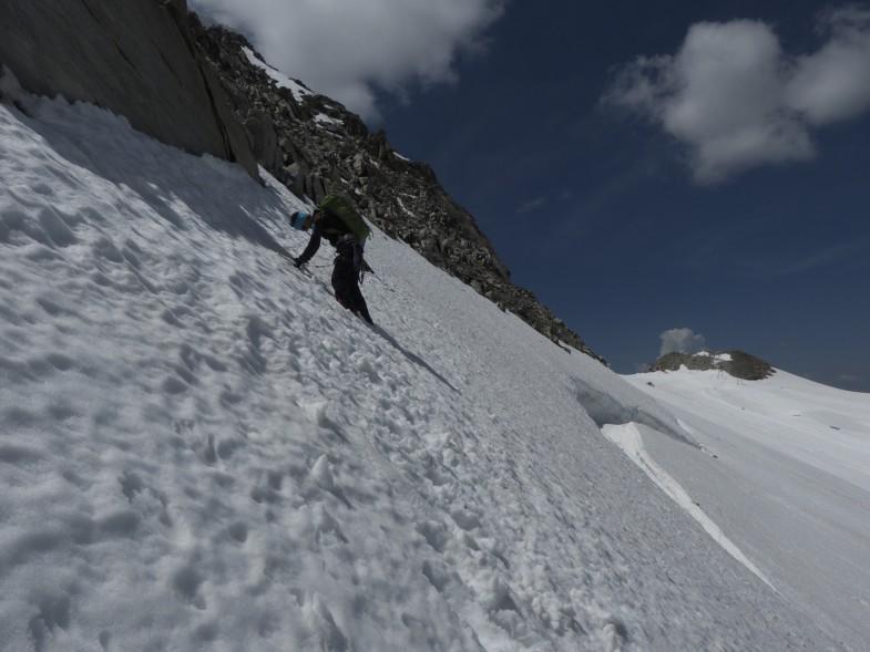 Im Abstieg vom Olperer Südgrat, hinunter ins Skigebiet