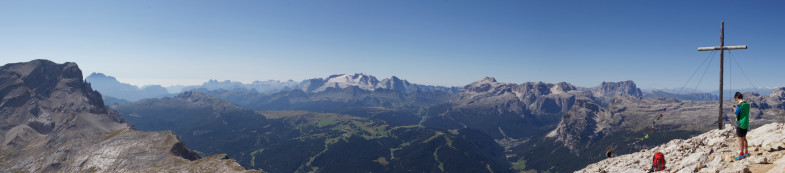 Gipfelpanorama am Heiligkreuzkofel