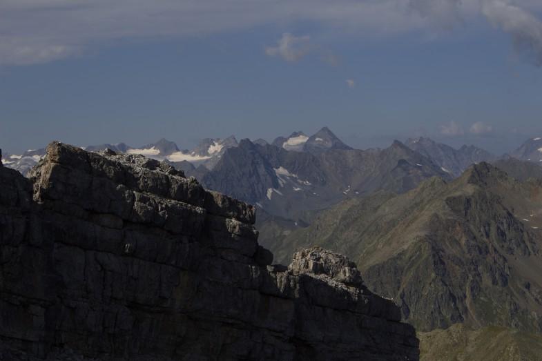 Gleich am Gipfel der Schlicker Seespitze
