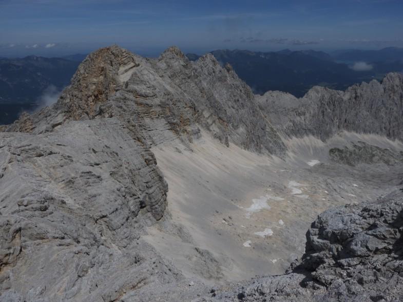 Die letzten Meter vor der letzten Torspitze und Rückblick über den gesamten Gratverlauf