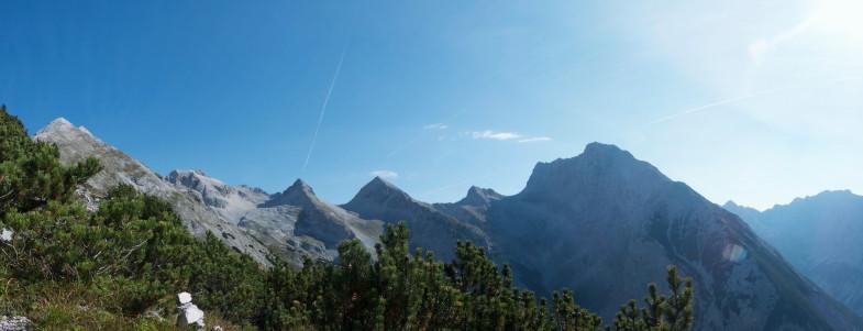 Moserkarspitze in Bildmitte