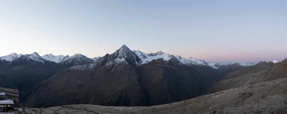 Am Morgen auf der Breslauerhütte