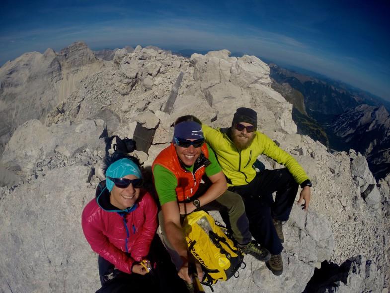 Auf der Kaltwasserkarspitze 2733m, die Königin des Karwendels