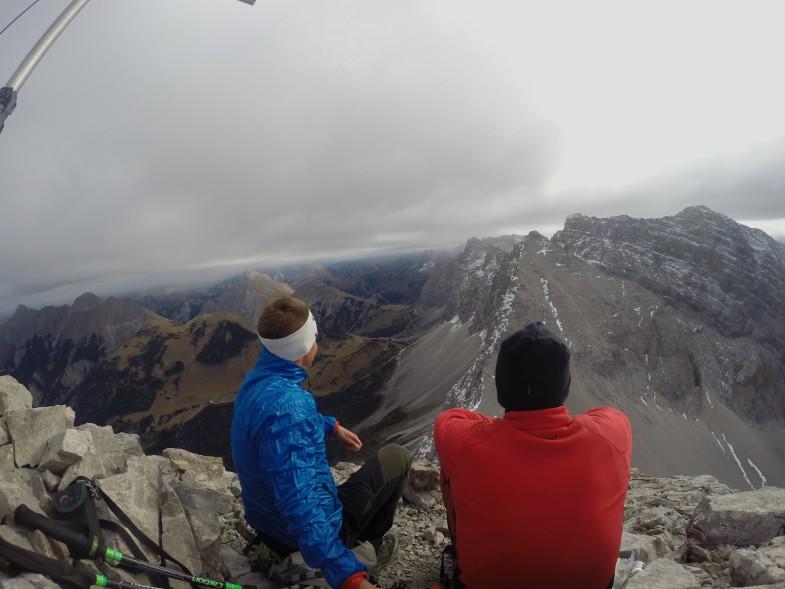 Ausblick auf Moserkarspitze und die markanten Sonnenspitzen