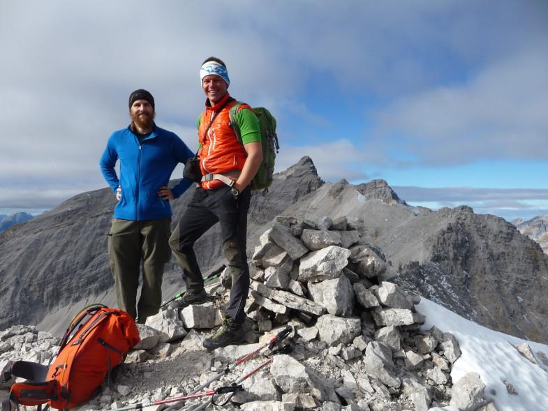 Simon und Ich auf der Moserkarspitze ©Florian Graiff