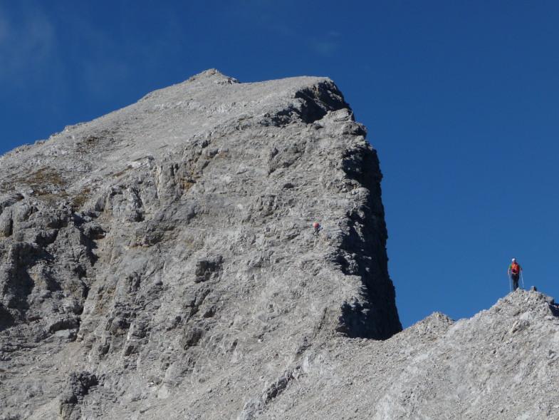 Ich im Abstieg von der Moserkarspitze ©Florian Graiff
