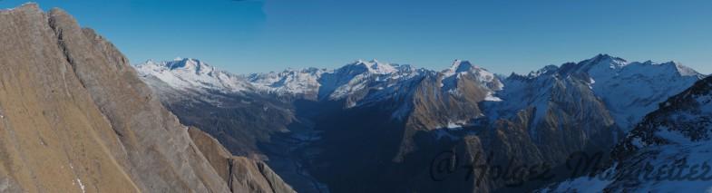 Abstieg Amthorspitze, links die Rollspitze