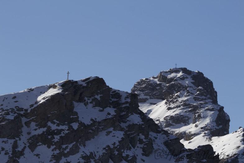 Hammerspitze und Kirchdachspitze von der Wasenwand aus gesehen