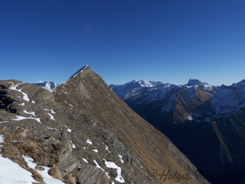 Ausblick zur Rollspitze von der Amthorspitze aus gesehen
