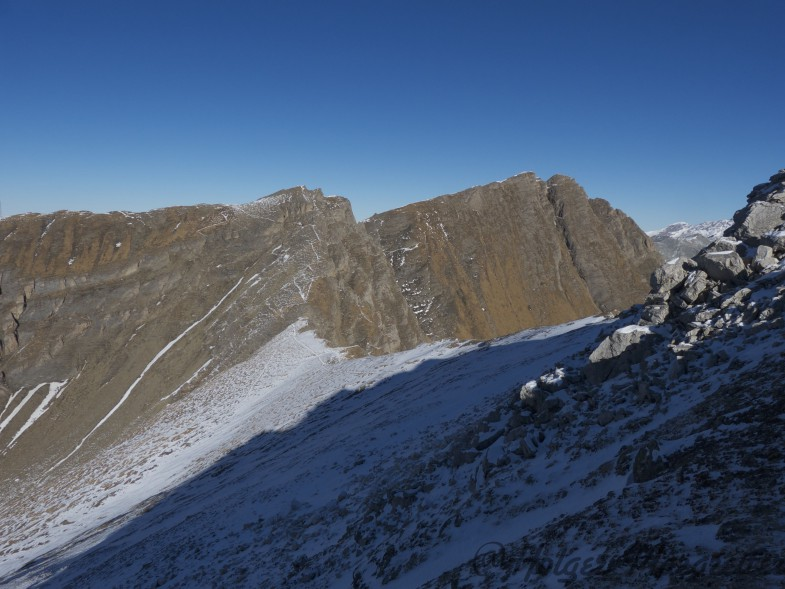 Blick retour zur Amthorspitze