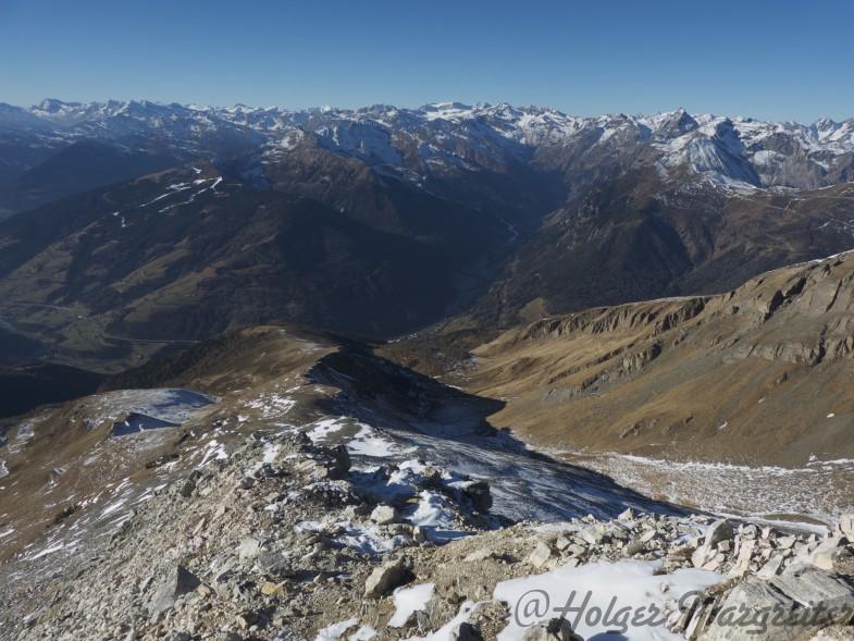 Abstiegsweg von der Weissspitze