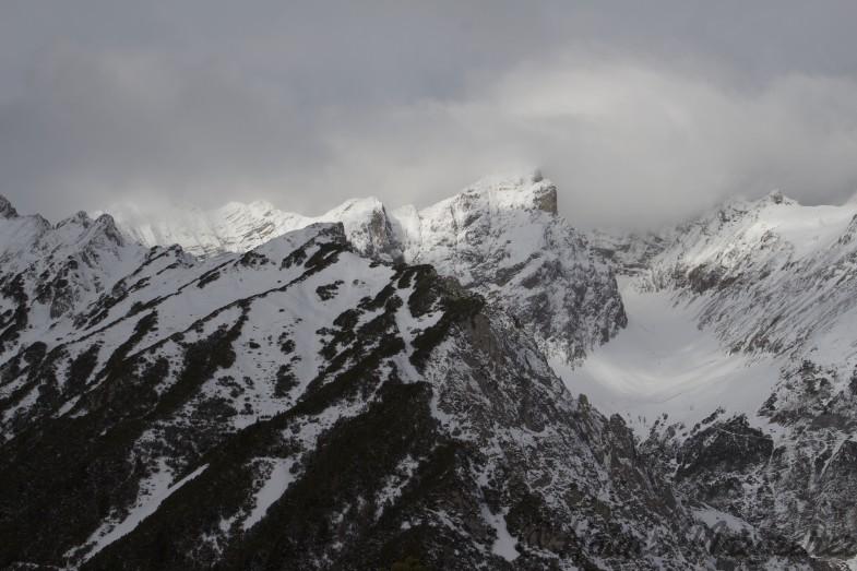 Ausblick vom Gipfel zum Halltaler Rosskopf
