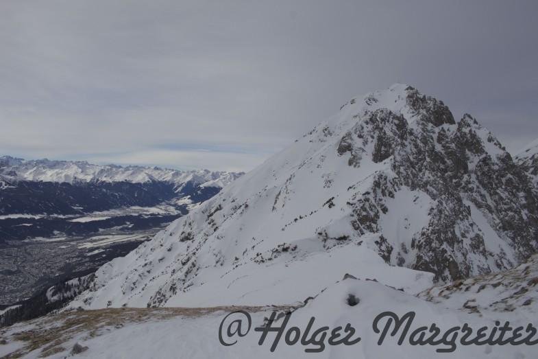 Etwas oberhalb des Gipfels dann Endstation