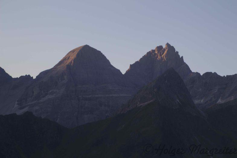 Die Tribulaune im ersten Morgenlicht