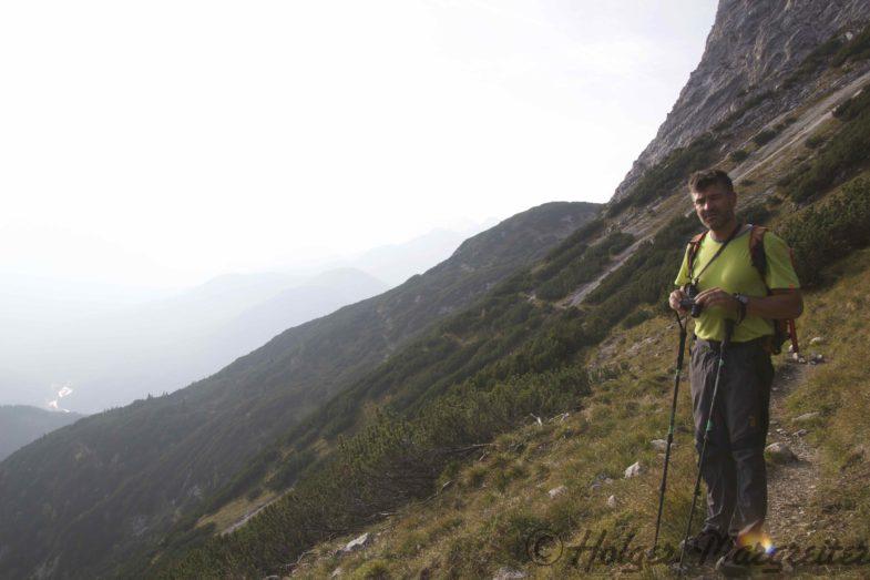 Flo am Weg zur Arnspitzenhütte