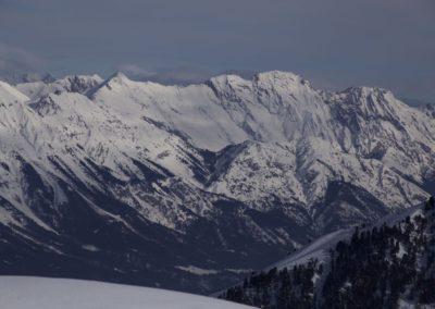 Karwendel mit Speckkarspitze und den Bettelwürfen