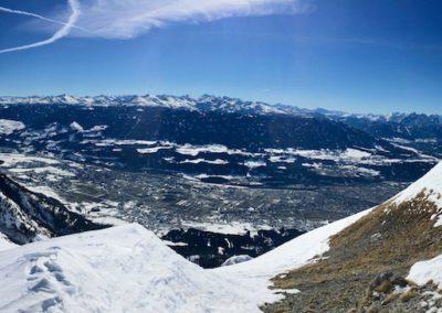 Vom Gipfel abwärts