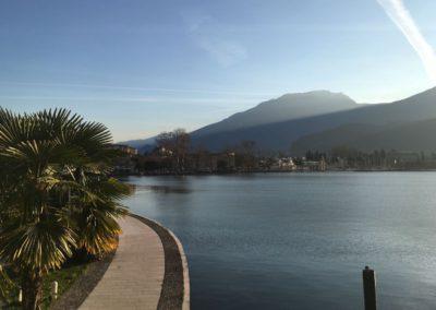 Start in Riva Nähe Hafen