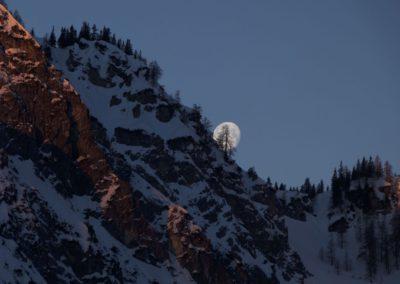 Der Mond im Törl- traumhafte Stimmung
