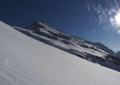 Unterhalb vom Lafatscher Joch- rechts die Speckkarspitze