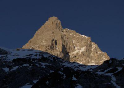 Der erste Blick auf den markanten Gipfelaufbau