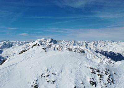 Drohnenfoto vom Gipfelaufbau