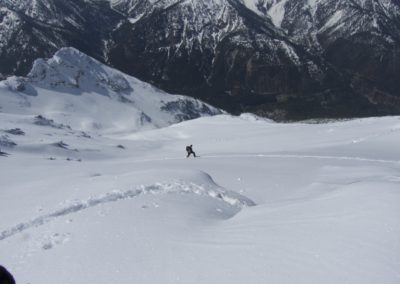 Jürgen folgt in der steilen Flanke