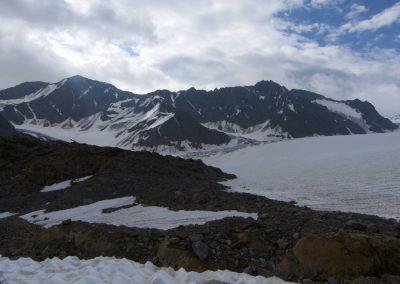 Wir verlassen den Gletscher