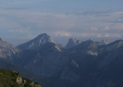 Ausblick ins Karwendel zum Sonnjoch