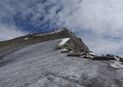 Die letzten Meter auf Eis- dann im Fels