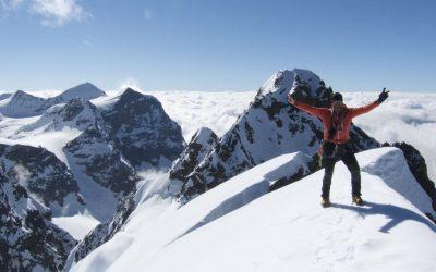 Piz Tschierva und Piz Roseg- zwei Gipfel in der Berninagruppe