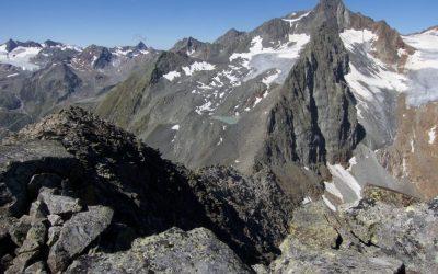 Nockwand über dem Grab(w)agrubennieder- Stubaier Alpen
